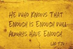 Heb genoeg Lao Tzu stock afbeelding