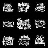 Heb heel Kerstmis, Vrolijk en helder, geniet van de vakantie, uitgespreide liefde, gelukkig jaar, de prachtigste tijd stock illustratie
