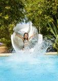 Heb pret in aquapark Royalty-vrije Stock Afbeeldingen