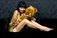 Heb pret met teddy Royalty-vrije Stock Foto's