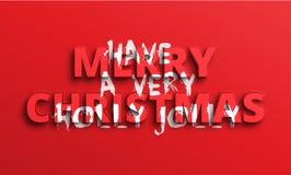 Heb zeer Vrolijke Holly Jolly Christmas vector illustratie