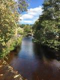 Hebden Bridge. From Bridge at Hebden Bridge Stock Images