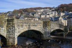 Hebden jette un pont sur le pont Images stock