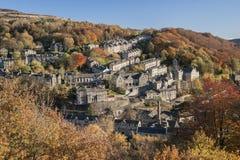 Hebdenbrug West-Yorkshire Royalty-vrije Stock Fotografie