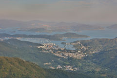 Hebe Haven, view from kowloon peak Stock Photos