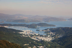 Hebe Haven, view from kowloon peak Royalty Free Stock Photography