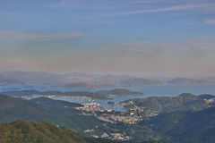 Hebe Haven, view from kowloon peak Stock Image