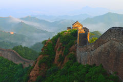 Hebei Chengde Jinshanling Great Wall in the morning scenery Royalty Free Stock Images