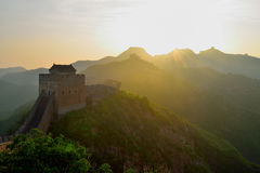 Hebei Chengde Jinshanling Great Wall in the morning scenery Royalty Free Stock Image