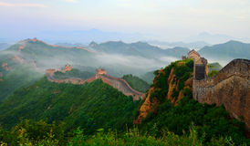 Hebei Chengde Jinshanling Great Wall in the morning scenery Stock Image