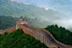 Hebei Chengde Jinshanling Great Wall in the morning scenery Royalty Free Stock Photo