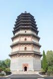 HEBEI, CHINA - 23 de octubre de 2015: Pagoda de Lingxiao en el templo de Tianning Imágenes de archivo libres de regalías
