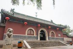 HEBEI, CHINA - 23 de octubre de 2015: Templo de Zhaoyun un si histórico famoso Fotos de archivo libres de regalías