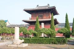 HEBEI, CHINA - 23 de outubro de 2015: Templo de Kaiyuan um si histórico famoso imagens de stock royalty free