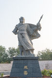 HEBEI, CHINA - 23 de outubro de 2015: Zhao Yun Statues no quadrado de Zilong dentro Fotos de Stock