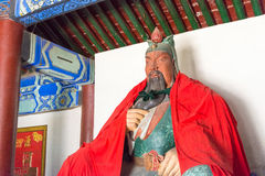 HEBEI, CHINA - Oct 13 2015: Guanyu Statue at Sanyi Temple. a fam Royalty Free Stock Photos