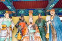 HEBEI, CHINA - 23 Oct 2015: Koning en Ambtenaar Hall in Zhaoyun Tem stock foto