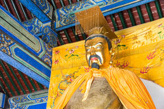 HEBEI, CHINA - Oct 13 2015: Liubei Statue at Sanyi Temple. a fam Royalty Free Stock Photo