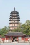 HEBEI, CHINA - 23. Oktober 2015: Lingxiao-Pagode an Tianning-Tempel lizenzfreie stockbilder