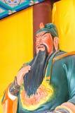 HEBEI CHINY, Oct, - 23 2015: Guan Yu statua przy Zhaoyun świątynią A Obrazy Stock