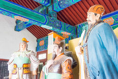 HEBEI CHINY, Oct, - 23 2015: Królewiątko Hall przy Zhaoyun Tem i oficer Obraz Royalty Free
