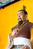 HEBEI CHINY, Oct, - 23 2015: Liu bei statua przy Zhaoyun świątynią A Fotografia Stock