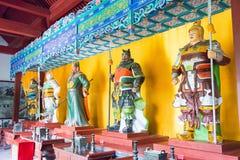 HEBEI CHINY, Oct, - 23 2015: Pięć Hall przy Zhaoyun świątynią tygrys A Zdjęcia Royalty Free