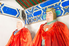 HEBEI CHINY, Oct, - 13 2015: Statuy Ma Dai i Ma Chao przy San Zdjęcia Royalty Free