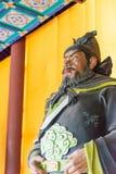 HEBEI CHINY, Oct, - 23 2015: Zhang fei statua przy Zhaoyun świątynią Zdjęcia Royalty Free