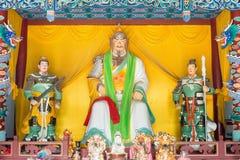 HEBEI CHINY, Oct, - 23 2015: Zhao yun statua przy Zhaoyun świątynią A Obrazy Royalty Free