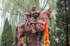 HEBEI CHINY, Oct, - 23 2015: Zhao Yun statuy przy Zhaoyun świątynią Obrazy Royalty Free