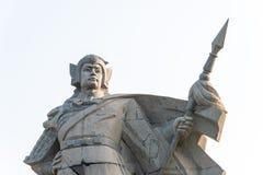 HEBEI CHINY, Oct, - 23 2015: Zhao Yun statuy przy Zilong kwadratem wewnątrz Zdjęcia Stock