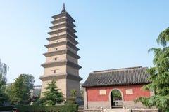 HEBEI, CINA - 23 ottobre 2015: Tempio di Kaiyuan un si storico famoso immagine stock libera da diritti
