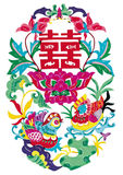 Hebei folk paper-cut Stock Image