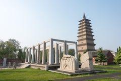 HEBEI KINA - Oktober 23 2015: Kaiyuan tempel en berömd historisk si Arkivfoto