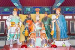 HEBEI KINA - Oktober 23 2015: Konung och tjänsteman Hall på Zhaoyun Tem Fotografering för Bildbyråer