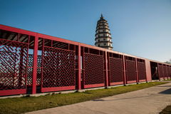 Hebei Province, one of Sambo Dingzhou tower inscriptions show gallery Stock Image