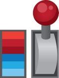 Hebel-Schalter lizenzfreie abbildung