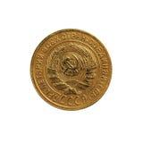 Heben Sie die frühen Münzen der UDSSR auf Stockfoto