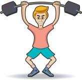 Heben Sie Gewichtung an Stockfoto
