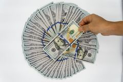 Heben Sie 100 US-Dollar auf Lizenzfreies Stockbild