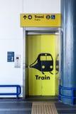 Heben Sie Zug an Stockbild