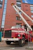 Heber-LKW auf Baustelle Lizenzfreie Stockfotos