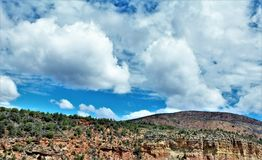 Heber Overgaard,纳瓦霍县, Sitgreaves国家森林,亚利桑那,美国 免版税图库摄影