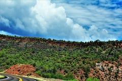 Heber Overgaard, Navajo County, Sitgreaves-staatlicher Wald, Arizona, Vereinigte Staaten lizenzfreie stockbilder