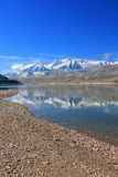 Heber Valley blue sky morning reflection. Royalty Free Stock Photo