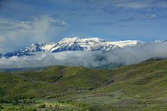 Heber Valley Cloudy morning landscape. Royalty Free Stock Photo