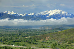 Heber Valley Cloudy morning landscape. Royalty Free Stock Images