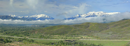 Heber Valley Cloudy morning panorama. Royalty Free Stock Image