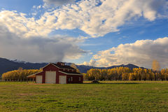 Heber Valley farm building Royalty Free Stock Image